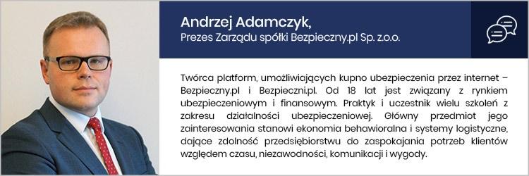 Ubezpieczenia w  świecie online - wywiad z Andrzejem Adamczykiem, twórcą platform Bezpieczny.pl oraz Bezpieczni.pl